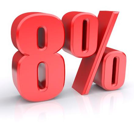 скидка 8%